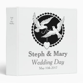 Love Doves Elegant Lesbian Wedding Album Binder