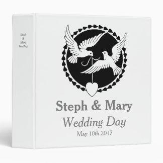 Love Doves Elegant Lesbian Wedding Album Binder