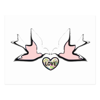 Love Doves Full Design Postcard