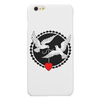 Love Doves Glossy iPhone 6 Plus Case