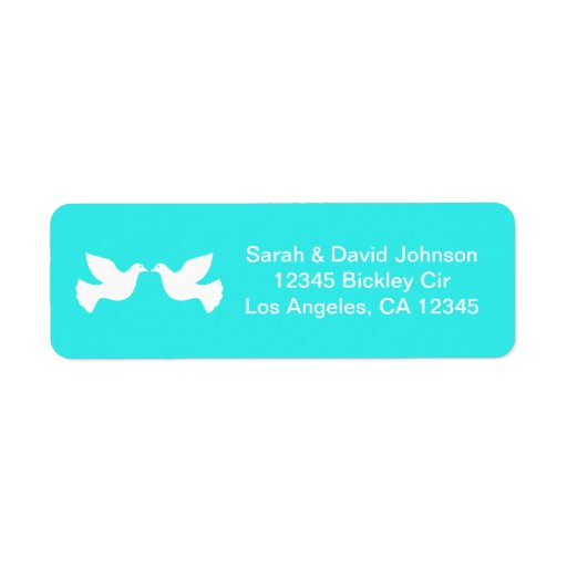 Love Doves Mint Blue with Chevron Label