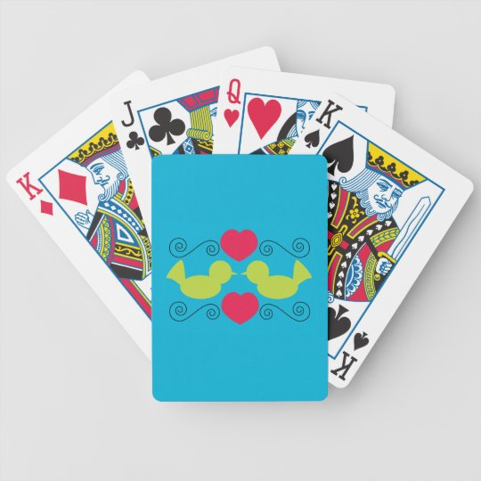 Love Doves Playing Cards