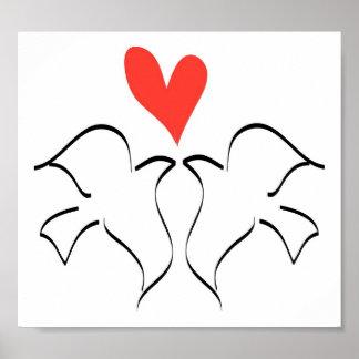 Love Doves Poster