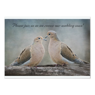 Love Doves Renewal of Wedding Vows Card
