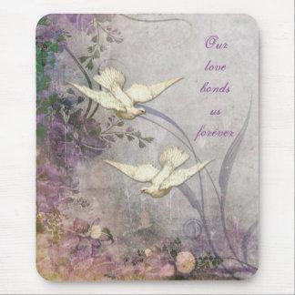 Love - Doves - Romantic - Forever Bond - Wedding Mouse Pad