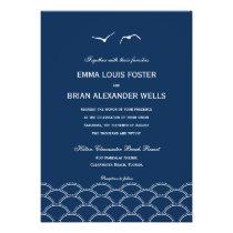Love Doves Wedding Invitations - Navy Invites