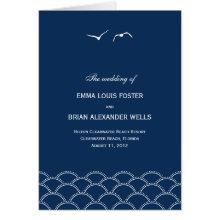 Love Doves Wedding Program Card