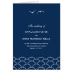 Love Doves Wedding Program Card Greeting Cards