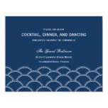 Love Doves Wedding Reception Cards - Navy Announcements
