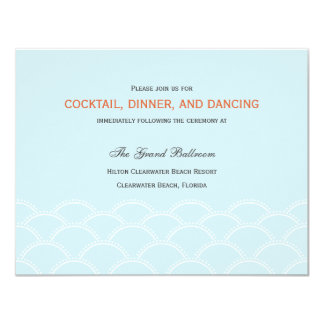 Love Doves Wedding Reception Cards - Sky Blue