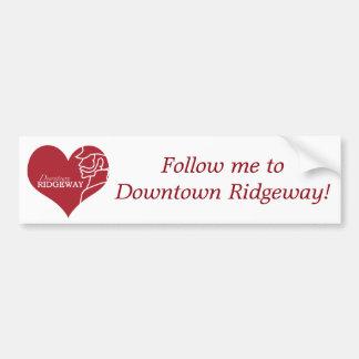 Love Downtown Ridgeway bumper sticker
