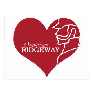Love Downtown Ridgeway postcard