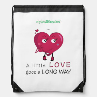 Love Drawstring Backpack
