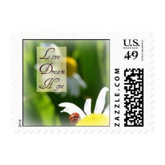 Love, Dream, Hope Ladybug Postage