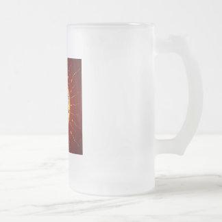love drink 16 oz frosted glass beer mug