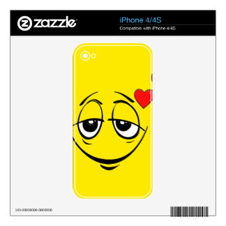 Love Drunk Happy Smiley Face Emoji iPhone 4S Decals
