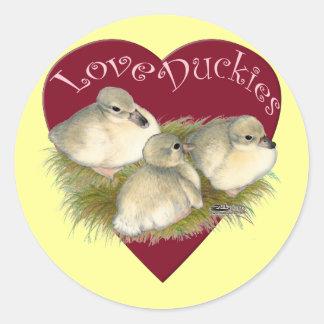 Love Duckies Classic Round Sticker