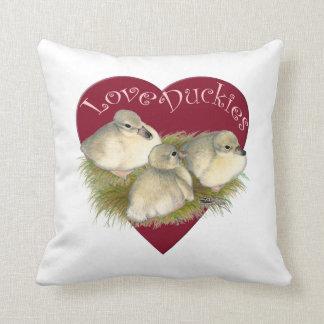 Love Duckies Throw Pillow
