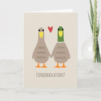 Love Ducks Wedding Congratulations Card