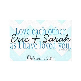 """""""Love Each Other..."""" John 15:12 Customized Canvas"""