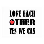 Love each other postcard