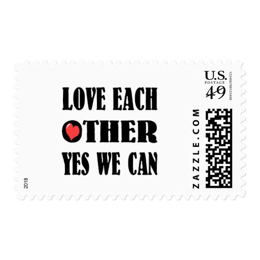 Love each other stamp