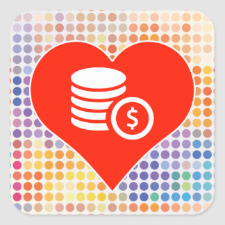 Love Earnings Square Sticker