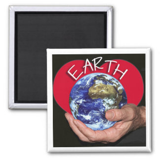 love-Earth 2 Inch Square Magnet