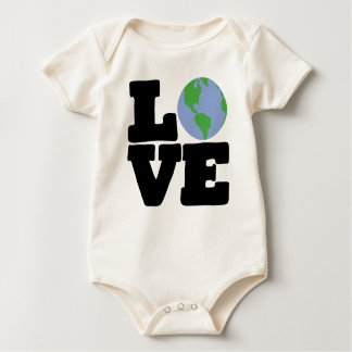 Love Earth (black text) Baby Bodysuit
