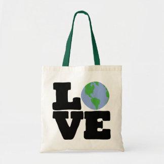 Love Earth (black text) Canvas Bag