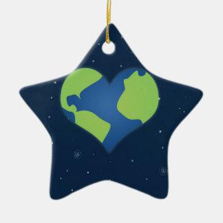 Love Earth Ceramic Ornament