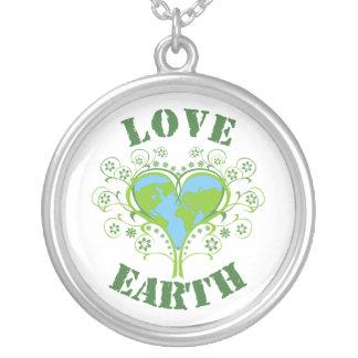 Love Earth Day custom silver pendant