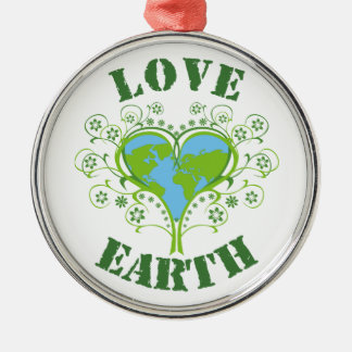 Love Earth Day Metal Ornament