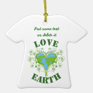 Love Earth Day Christmas Ornaments