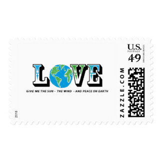 LOVE EARTH - GIVE ME THE SUN WIND AND PEACE STAMP