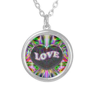 Love Earth Heart Art Necklace