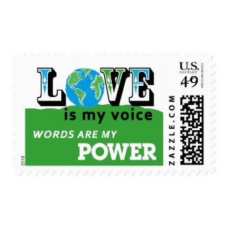 LOVE EARTH - LOVE IS MY VOICE POSTAGE
