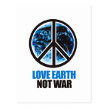 LOVE EARTH NOT WAR POST CARDS