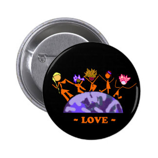 Love - Earth Pinback Buttons