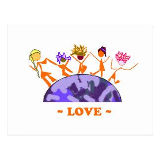 Love - Earth Postcard