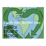 Love Earth -Reduce Reuse Recycle Postcards