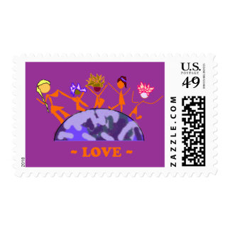 Love - Earth Stamp