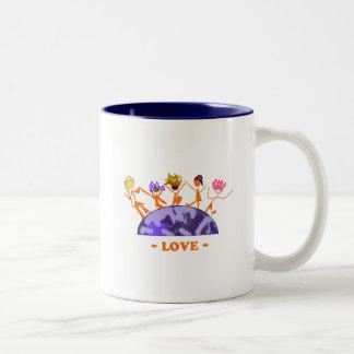 Love - Earth Two-Tone Coffee Mug
