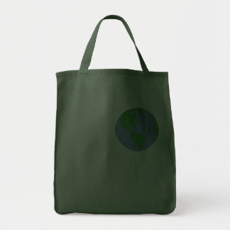LOVE Earth (white text) Tote Bag