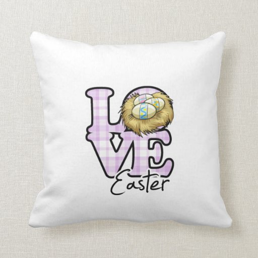 Love Easter Throw Pillow