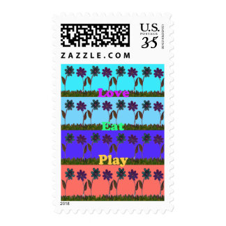 Love Eat Play Hakuna Matata stamps