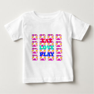 Love  Eat Play Heart Hakuna Matata colors.png Baby T-Shirt