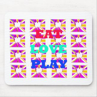 Love  Eat Play Heart Hakuna Matata colors.png Mouse Pad