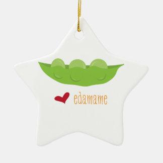 Love Edamame Ceramic Ornament
