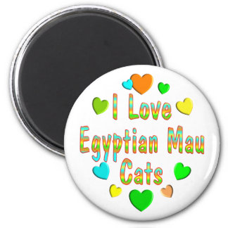 Love Egyptian Mau Cats Magnet